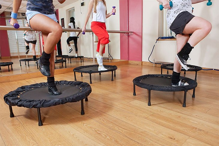 best mini trampoline workout