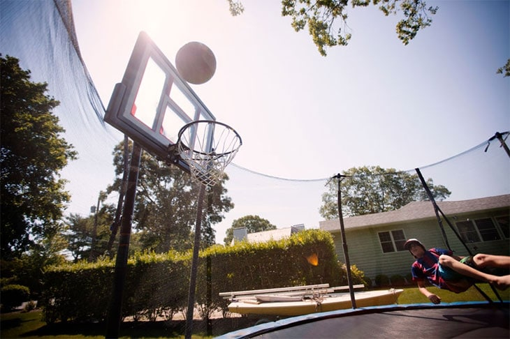 trampoline basketball hoop amazon