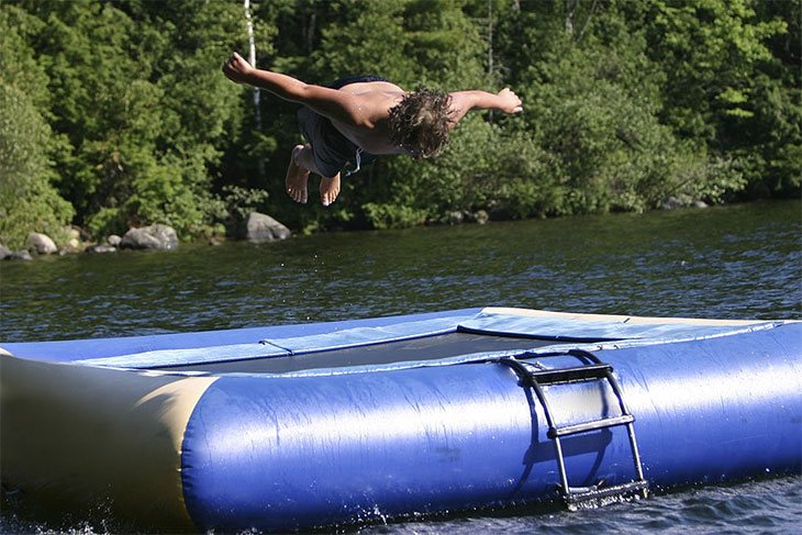 best rated water trampoline