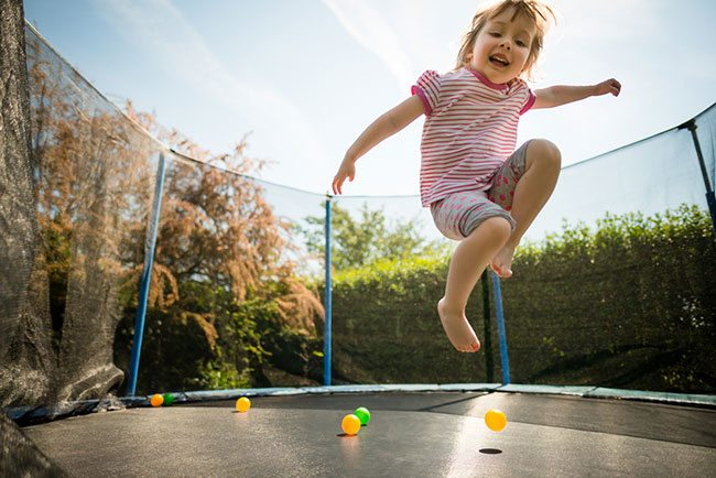 how to measure a trampoline size